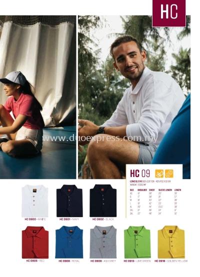 HC09 Collar T Shirt Cotton LongSleeve