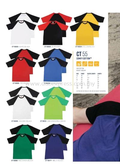 CT55 Roundneck T Shirt Cotton Raglan