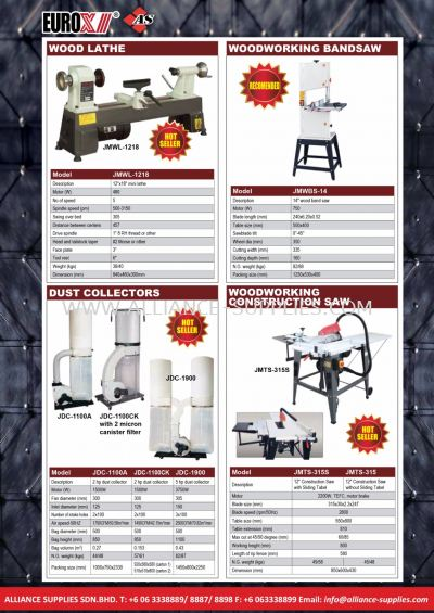 20.14 Wood Lathe/ Wood Working Bandsaw/ Table Saw/ Dust Collector/ Woodworking Constructiuon Saw