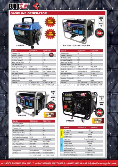 Gasoline Generator/ Heavy Duty Gasoline Generator/ Inverter Generator/ Engine Oil/ Compressor Oil