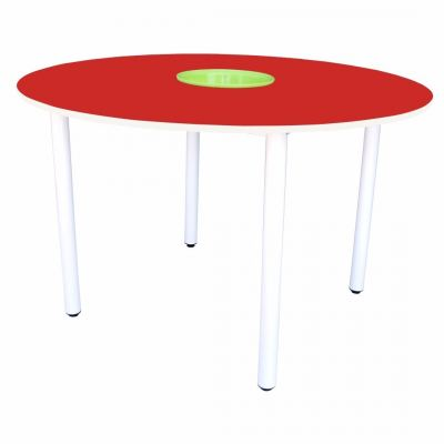 Q019H  4' Round Table with Basket (H:76cm)