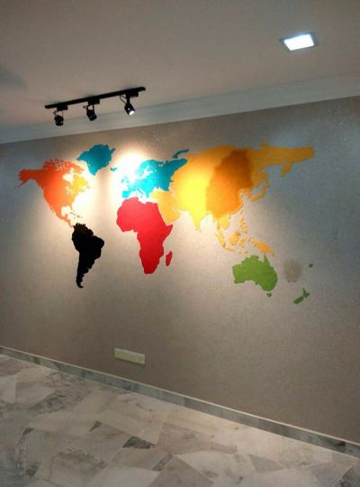 Call Now For Colorful Mapping Wall Decor In Malaysia.