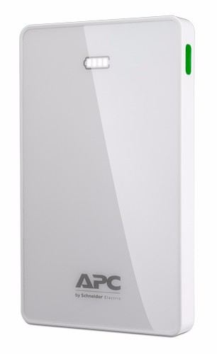 M10WH APC Mobile Power Pack, 10000mAh Li-polymer, White Mobile Power Packs  APC