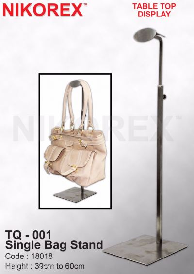 530003HL - SS BAG STAND 1 SIDED TQ-002 HAIRLINE