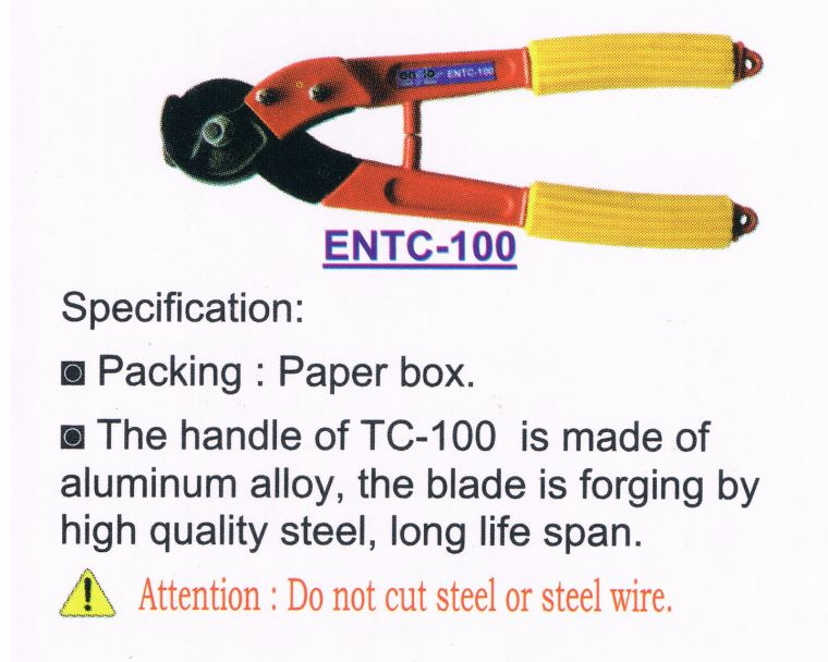 ENZIO HAND CABLE CUTTER ENTC-100 L320mm Hand Cutter Heavy Duty Hand Tooling