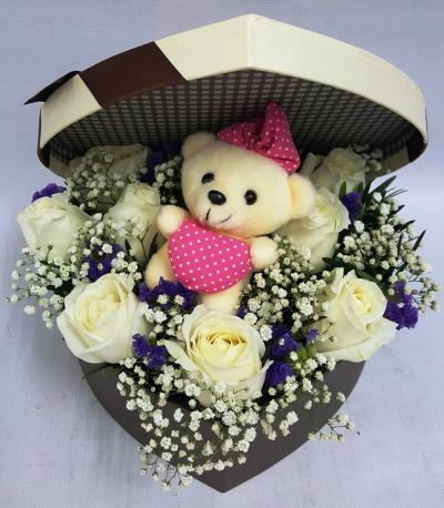 Heart Shape Gift Box With Rose (BF-281)