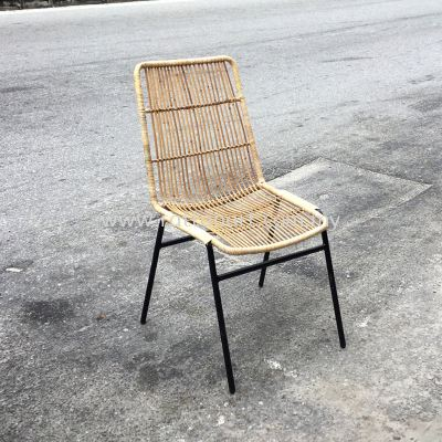 RATTAN + METAL DINING CHAIR MINNIE
