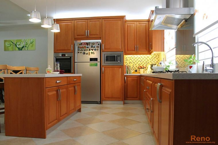 Projects 15 (1 Pictures) Classic & Tropical Kitchen Cabinet