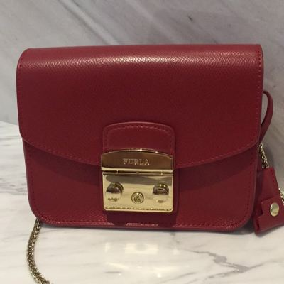 (SOLD) Furla Metropolis in Red