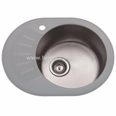 TORA Luna Glass Series Kitchen Sink LGS3911-WW / TR-KS-NH-00012-WW