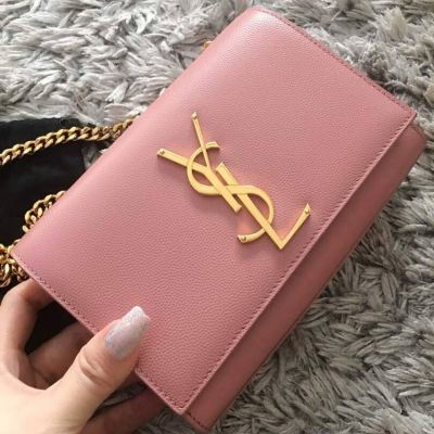 YSL Kate Classic Small Flap in Pink with GHW