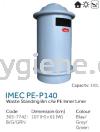 IMEC PE - P140  Waste Standing Bin c/w PE Inner Liner Plastic Bins Waste Bins