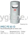 IMEC PE 85-D -Round Stainless Bin w/ Inner Liner  Plastic Bins Waste Bins