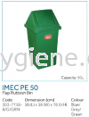 IMEC PE 50 - Flap Rubbish Bin Flip Top Bin  Waste Bins