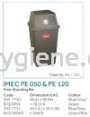 IMEC PE 050 & PE 120 - Free Standing Bin Flip Top Bin  Waste Bins