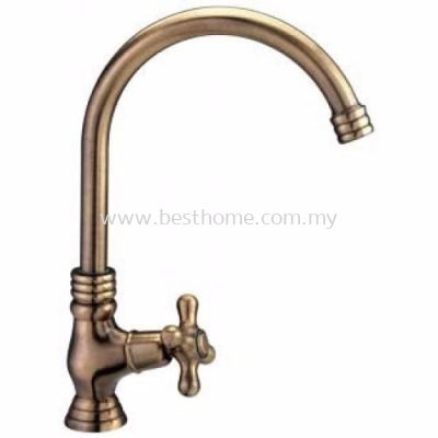 TORA ALL TIME CLASSIC SERIES (ANTIQUE BRASS) KITCHEN PILLAR SINK COLD TAP PS145-AB / TR-TP-PS-00217-AB