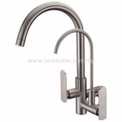 TORA EASY-HAND SERIES KITCHEN WALL SINK COLD TAP WS500-S / TR-TP-WS-00241-ST