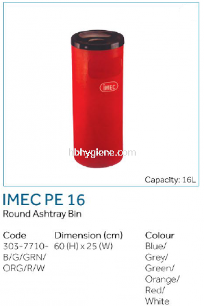 IMEC PE 16 - Round Ashtray Bin