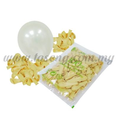 5 inch Metallic Balloon - Ivory (B-MR5-812)