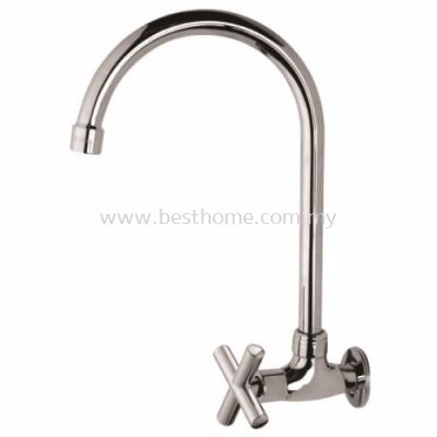 FAUREX T-SERIES KITCHEN WALL SINK TAP FR-WS002-T / FR-TP-WS-00338-CH