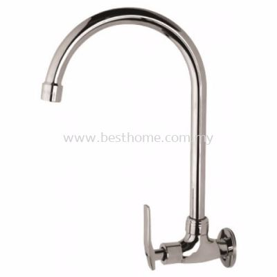 FAUREX L-SERIES KITCHEN WALL SINK TAP FR-WS003-L / FR-TP-WS-00301-CH