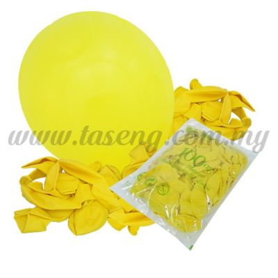 12 inch Standard Balloons - Yellow (B-SR12-210)