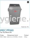 IMEC PP060 - Flat Top Waste Bin Flip Top Bin  Waste Bins