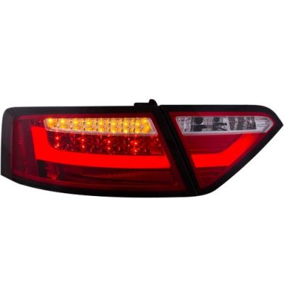 Audi A5 08 Rear Lamp Crystal LED + Light BarRed/Clear