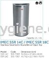 IMEC SSR 14C / IMEC SSR 18C - S/Steel Semi-Round Bin w/ Open Top Stainless Steel Bins Waste Bins