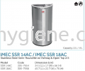 IMEC SSR 14AC / IMEC SSR 18AC - S/Steel Semi-Round Bin w/ Ashtray & Open Top 2/3 Stainless Steel Bins Waste Bins
