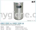 IMEC SSR 14 / IMEC SSR 18 - S/Steel Semi-Round Bin Ashtray  Stainless Steel Bins Waste Bins