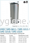 IMEC SRS 0811 / SRS 1013 / SRS 1018 / SRS 1024 - S/Steel Rectangular Ashtray Bin   Stainless Steel Bins Waste Bins