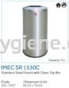 IMEC SR 1530C - S/Steel Round with Open Top Bin  Stainless Steel Bins Waste Bins