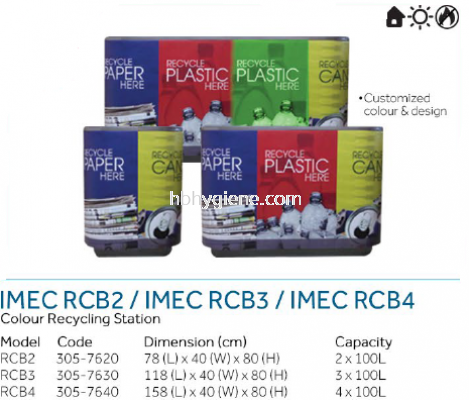 IMEC RCB2 / RCB3 / RCB4 - Colour Recycling Station