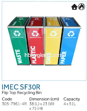 IMEC SF30R - Flip Top recycling Bins
