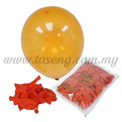 12 inch Crystal Round Balloon - Orange (B-CR12-620)