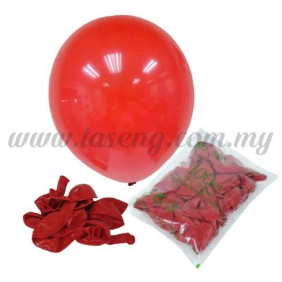 12 inch Crystal Round Balloon - Red (B-CR12-631)