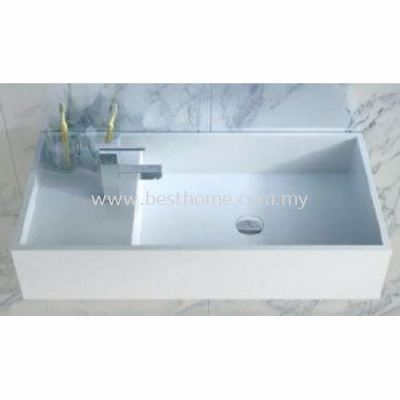 TORA LE CELEBRITY SERIES POLYSTONE WALL HUNG BASIN TR-SYW-WHB-08763-WW