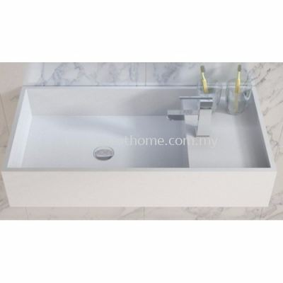 TORA LE CELEBRITY SERIES POLYSTONE WALL HUNG BASIN TR-SYW-WHB-08765-WW