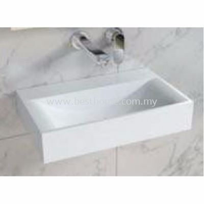 TORA LE CELEBRITY SERIES POLYSTONE WALL HUNG BASIN TR-SYW-WHB-08781-WW