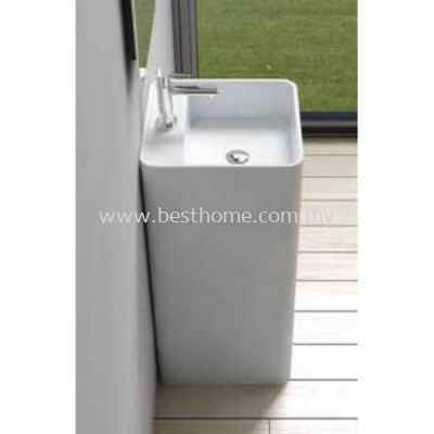 TORA LE CELEBRITY SERIES POLYSTONE FREE STANDING BASIN TR-SYW-WHB-06267-WW
