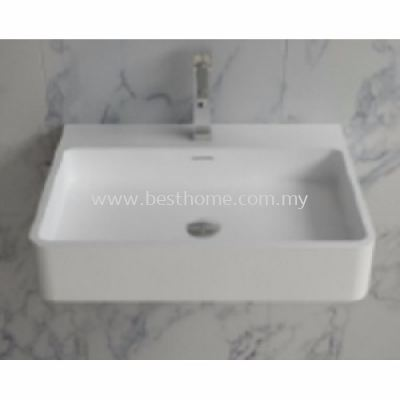 TORA LE CELEBRITY SERIES POLYSTONE WALL HUNG BASIN TR-SYW-WHB-08786-WW
