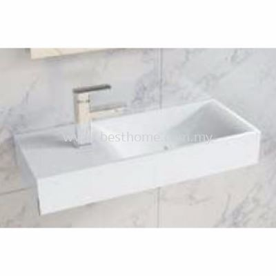 TORA LE CELEBRITY SERIES POLYSTONE WALL HUNG BASIN TR-SYW-WHB-08779-WW