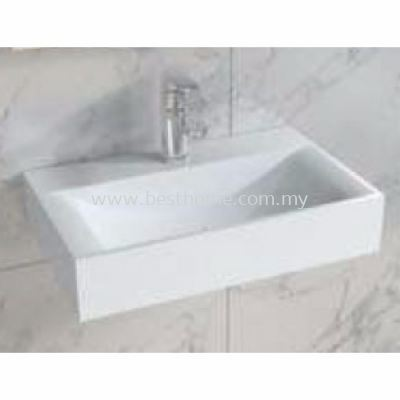 TORA LE CELEBRITY SERIES POLYSTONE WALL HUNG BASIN TR-SYW-WHB-08783-WW