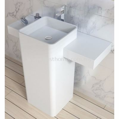 TORA LE CELEBRITY SERIES POLYSTONE FREE STANDING BASIN TR-SYW-WHB-06271-WW