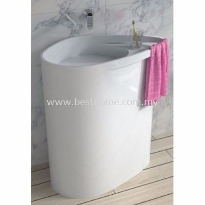 TORA LE CELEBRITY SERIES POLYSTONE FREE STANDING BASIN TR-SYW-WHB-06273-WW