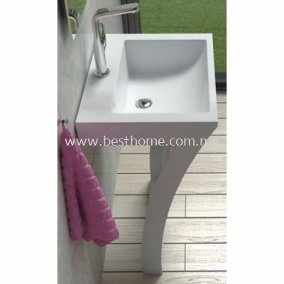 TORA LE CELEBRITY SERIES POLYSTONE FREE STANDING BASIN TR-SYW-WHB-05218-WW