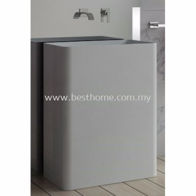 TORA LE CELEBRITY SERIES POLYSTONE FREE STANDING BASIN TR-SYW-WHB-06274-WW