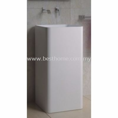 TORA LE CELEBRITY SERIES POLYSTONE FREE STANDING BASIN TR-SYW-WHB-05194-WW