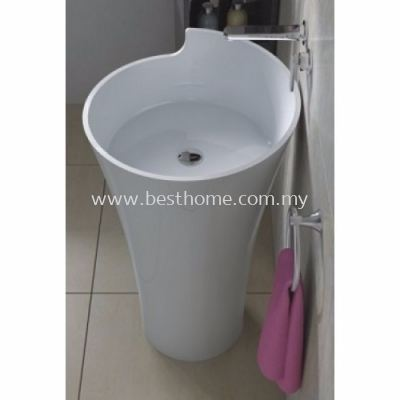 TORA LE CELEBRITY SERIES POLYSTONE FREE STANDING BASIN TR-SYW-WHB-05195-WW